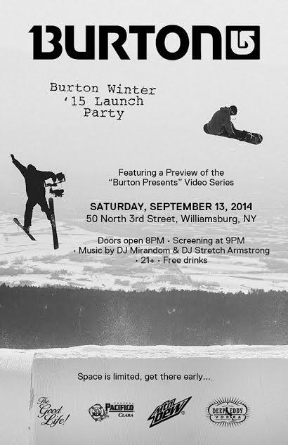 TheGoodLife! x Burton Presents Premiere
